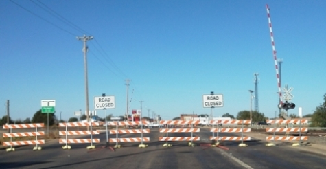 Railroad - Road Closed at Crossing